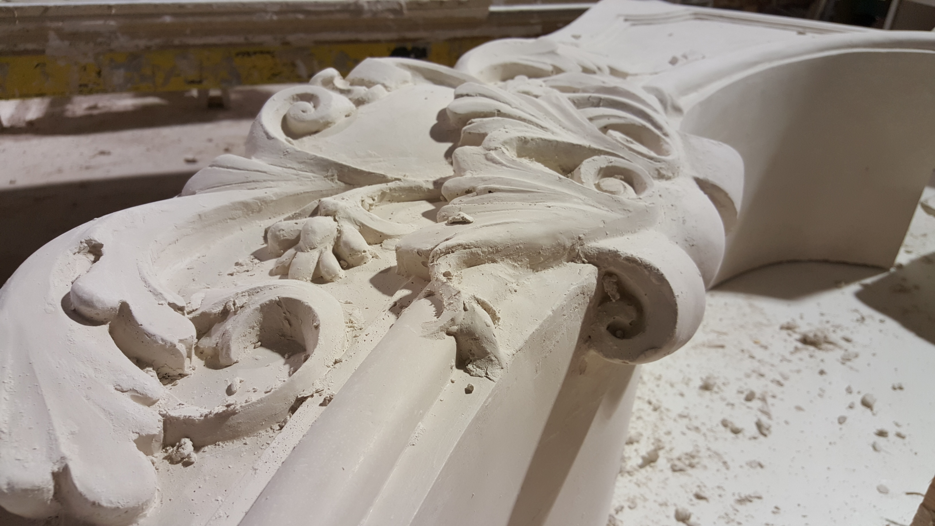 cast stone mantel