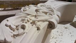 cast stone mantel