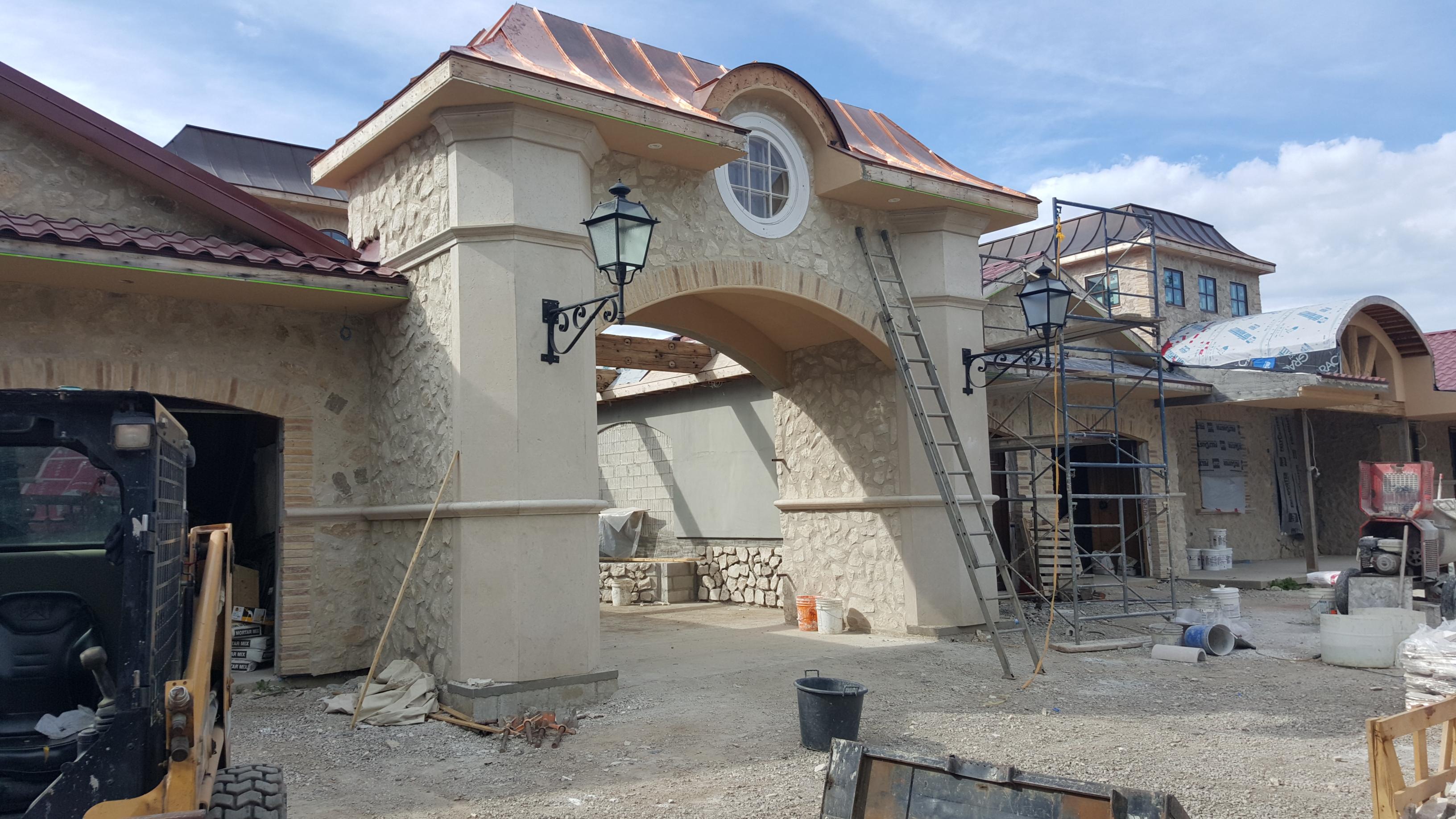 GFRC limestone cladding