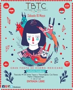 Cartel para Feria de Diseño mexicana