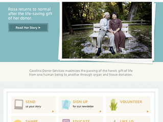 Custom Website: Carolina Donor Services