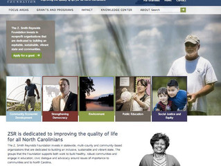 Custom Website: Z. Smith Reynolds Foundation