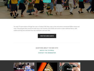 Dance Camp Website
