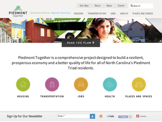 Communication Strategy & Custom Website: Piedmont Together