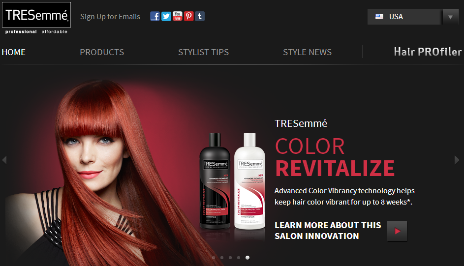 TRESemme screenshot