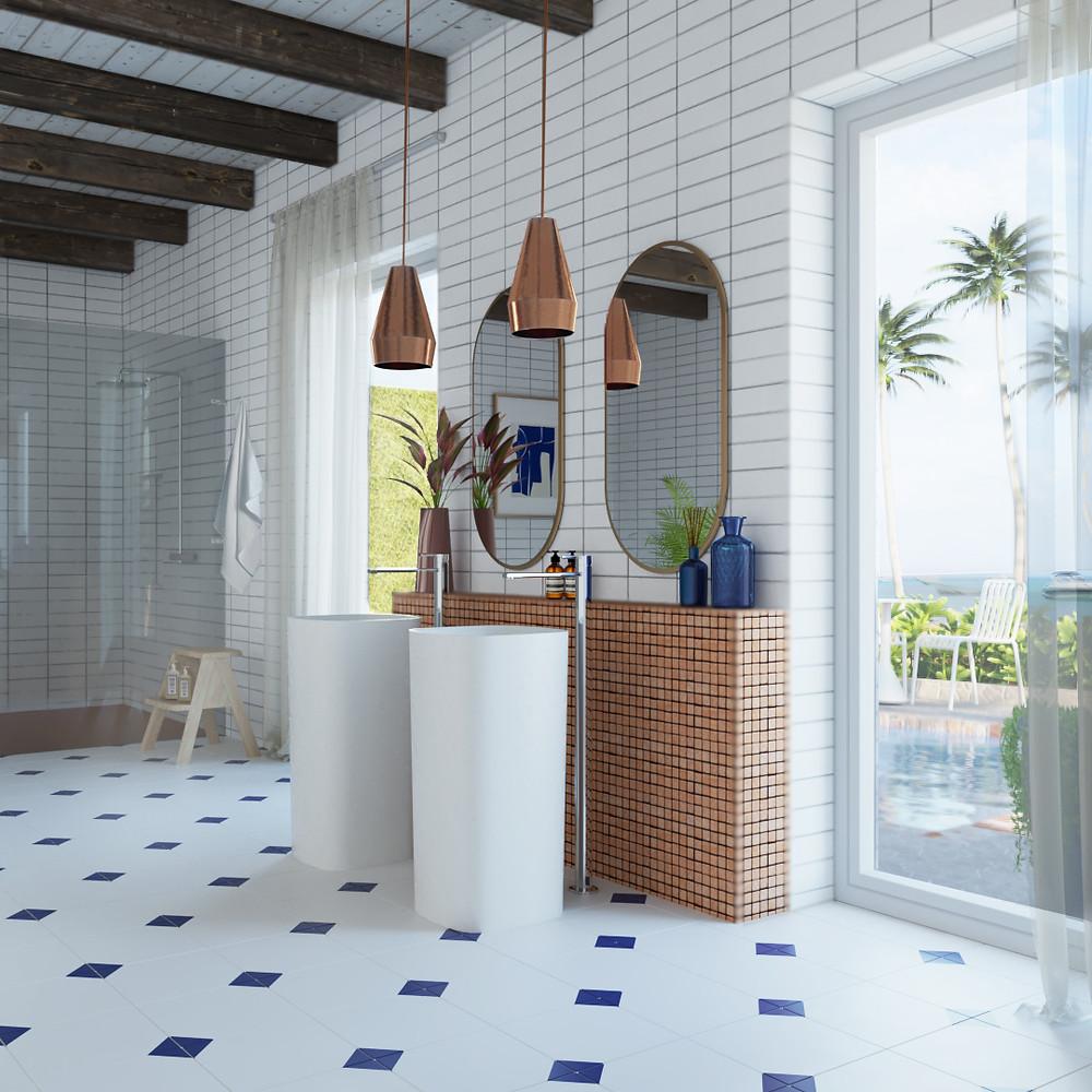 diseño de baño moderno para Noken Porcelanosa