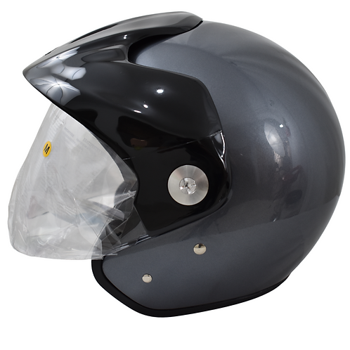 casco Moto zeus 507 titanio Certificado Placas Gratis