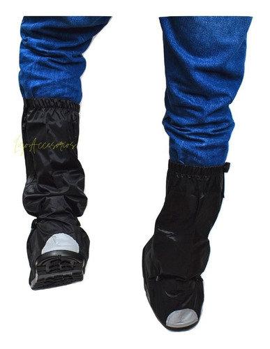 Zapatones Impermeables Moto O Bicicleta Botas Lona Con Suela