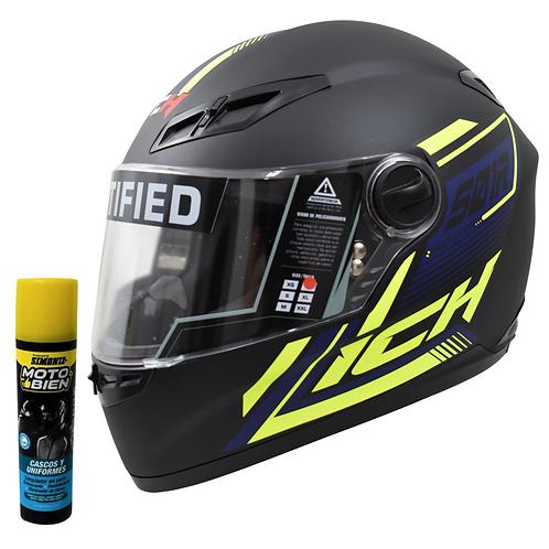 casco  Moto Ich Integral Certificado  Placas Gratis oferta