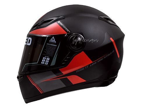 Casco Moto Ich Integral Certificado Rojo 501r Placas Gratis