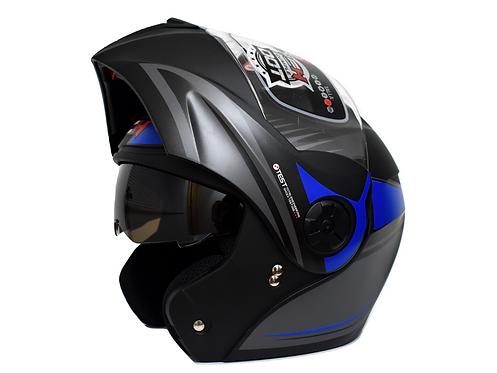 Cascos Moto Abatible Certificado Ich azul  Gratis Placas