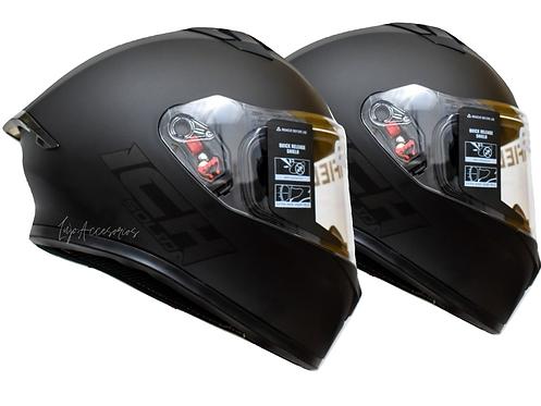 2 Cascos Moto Ich Certificados Integral Dot Gratis Placas