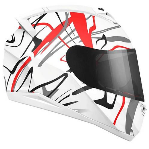 Casco Moto kontrol  Integral Certificado rojo Placas Gratis