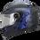 Thumbnail: Casco Moto Ich Integral Certificado 501r Azul Placas Gratis