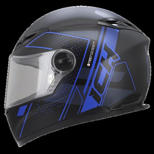 Casco Moto Ich Integral Certificado 501r Azul Placas Gratis