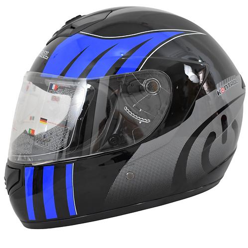 Casco Moto kontrol  Integral Certificado azul Placas Gratis