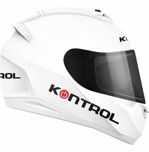 Casco Moto kontrol  Integral Certificado blanco Placas Gratis
