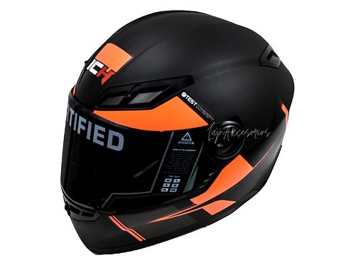 Casco Moto Ich Integral Certificado Naranja  501r Placas Gratis