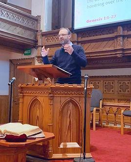 Pastor Steve preaching