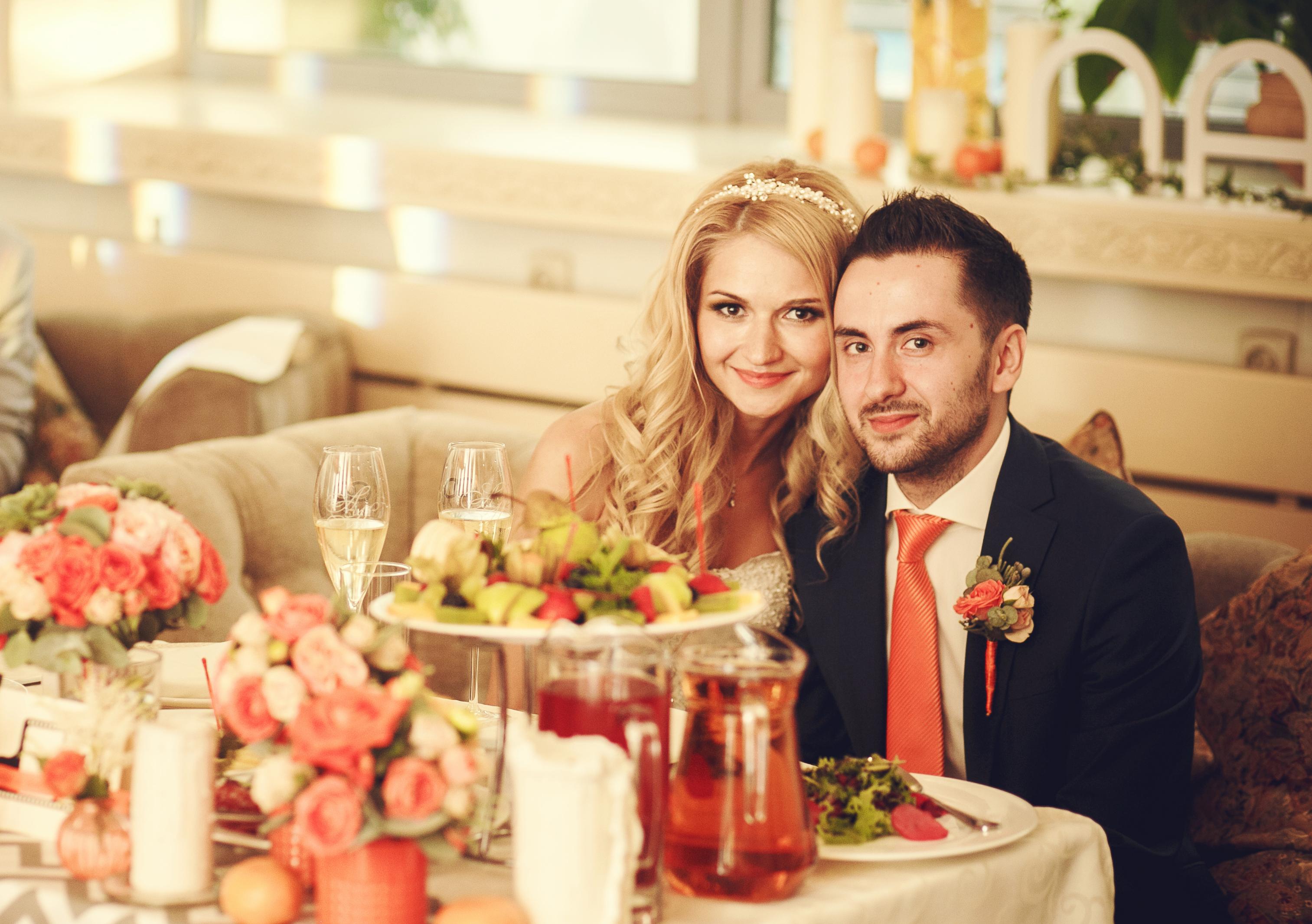 Фото 4 свадьба в Москве в оранжевом цвете | ведущая свадьбы - Катрин Моро