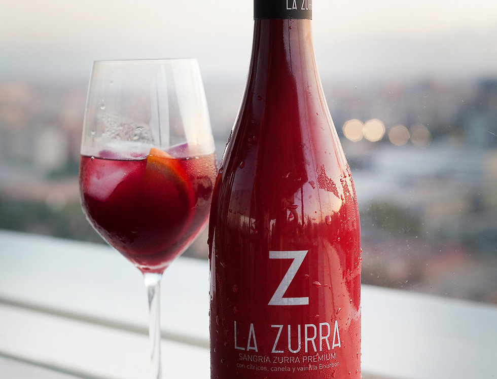 Caja 6 botellas La Zurra, sangría zurra Premium 75 cl.