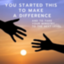 you started this to make a difference (1