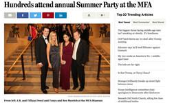 BOSTON GLOBE: MFA SUMMER PARTY