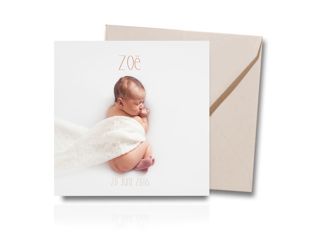 Geboortekaartje 1 front