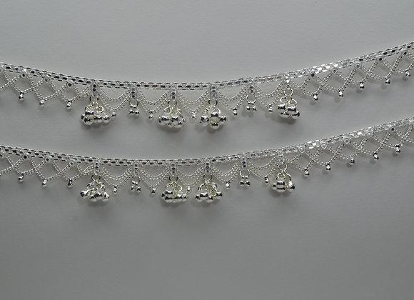 Silver Ghungro Payal