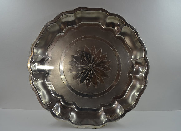 Silver Flower Design Plate