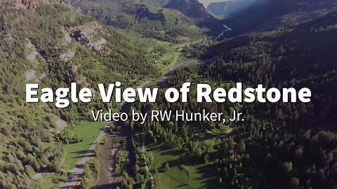 Aerial fly over of the Crystal River Valley & Redstone, Colorado
