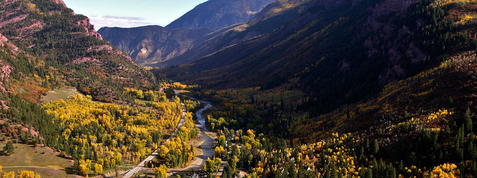 Aerial view of Redstone in the Fall