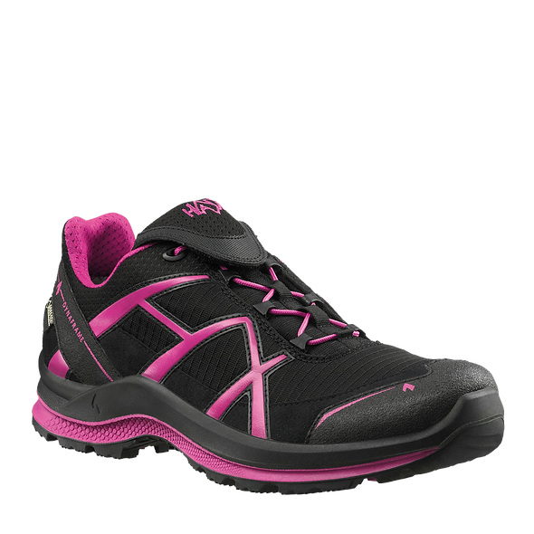HAIX BLACK EAGLE ADVENTURE 2.0 WS LOW / BLACK-MAGENTA / GTX