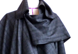 Kimono Cape Coat Detail