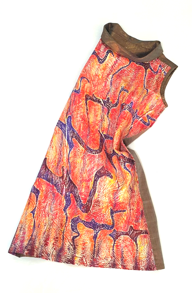 "Hand-painted shift dress ""Camels"""
