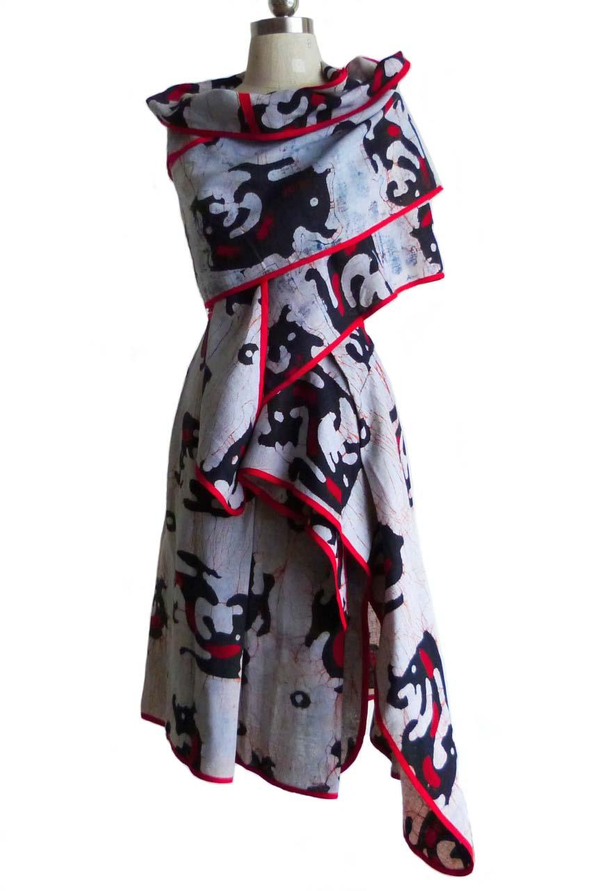 Top& skirt batik_set