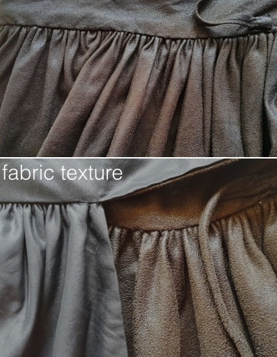 Tulip skirt fabric textures