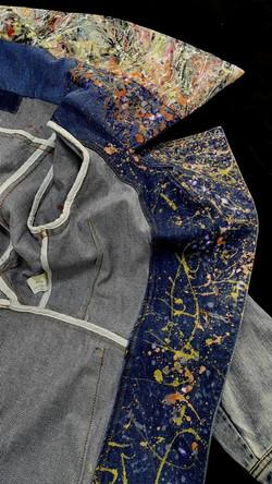 Painted Denim coat