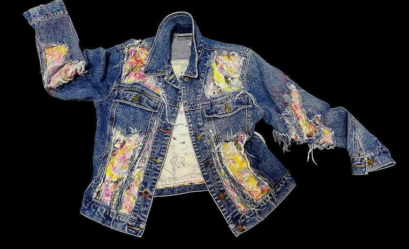Re-fashioned Denim jacket front
