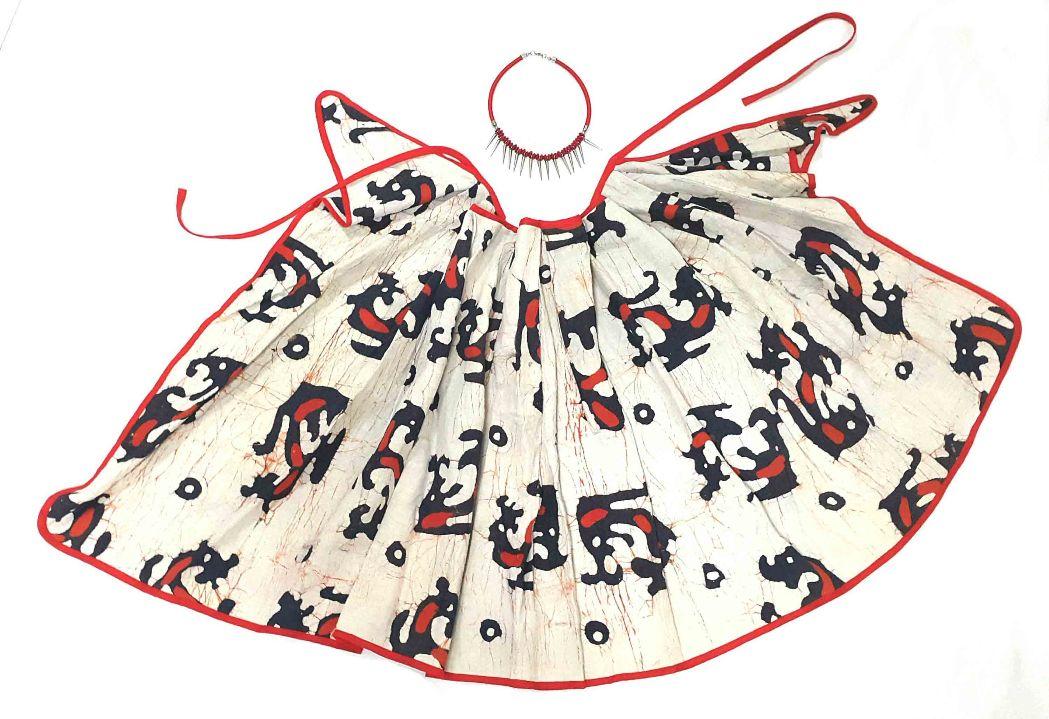 Chinese Batik skirt-smart cut
