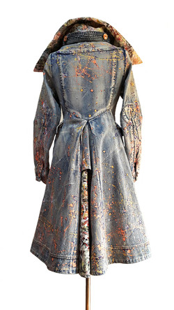Re-fashioned denim coat