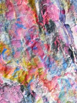 Painted Denim Skirt