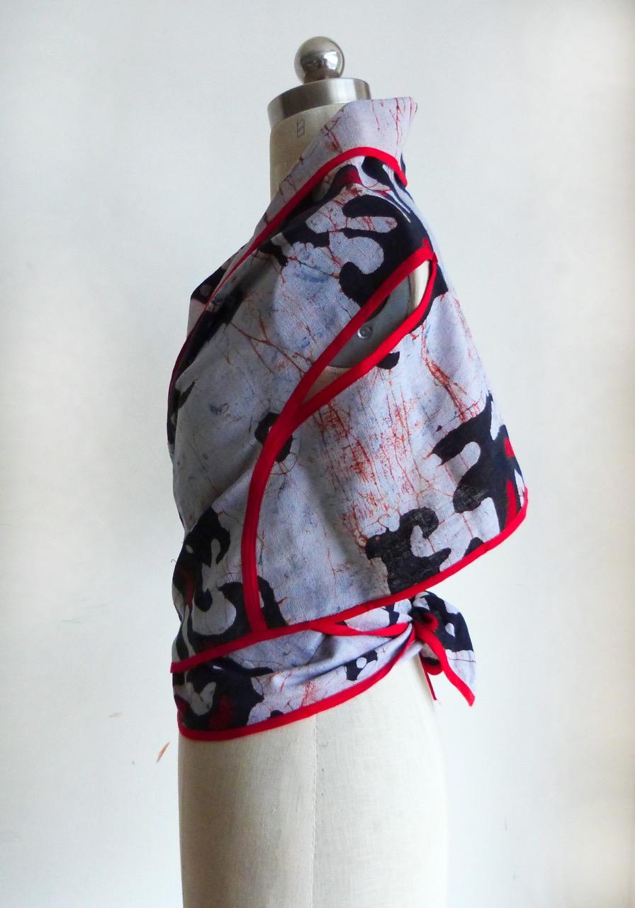 Chenese Batik Cape-top