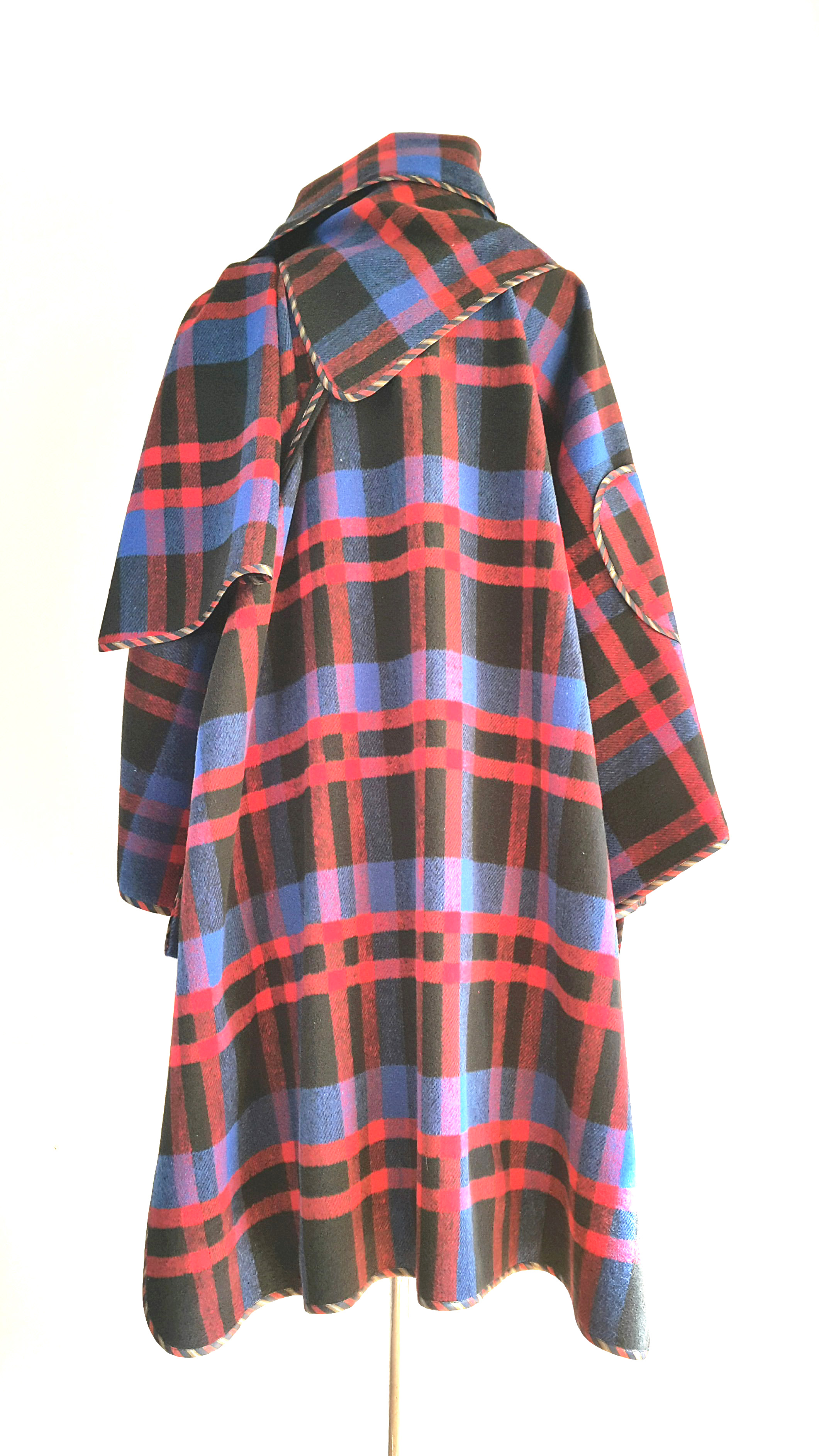 Tartan cape coat