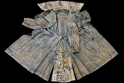 Hand-painted denim coat