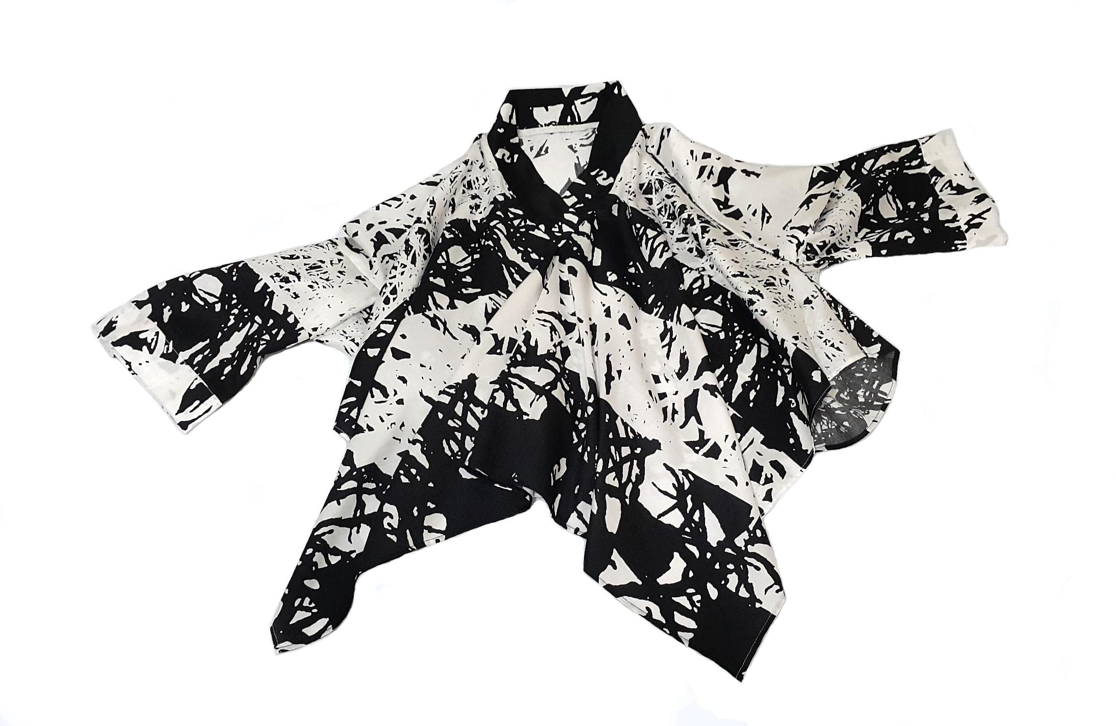 Zero-waste kimono blouse