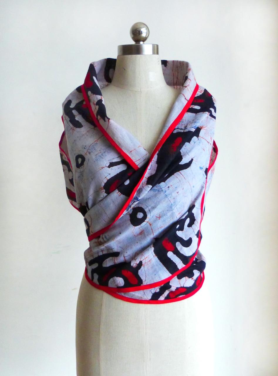 Wrapped Chenese Batik Top