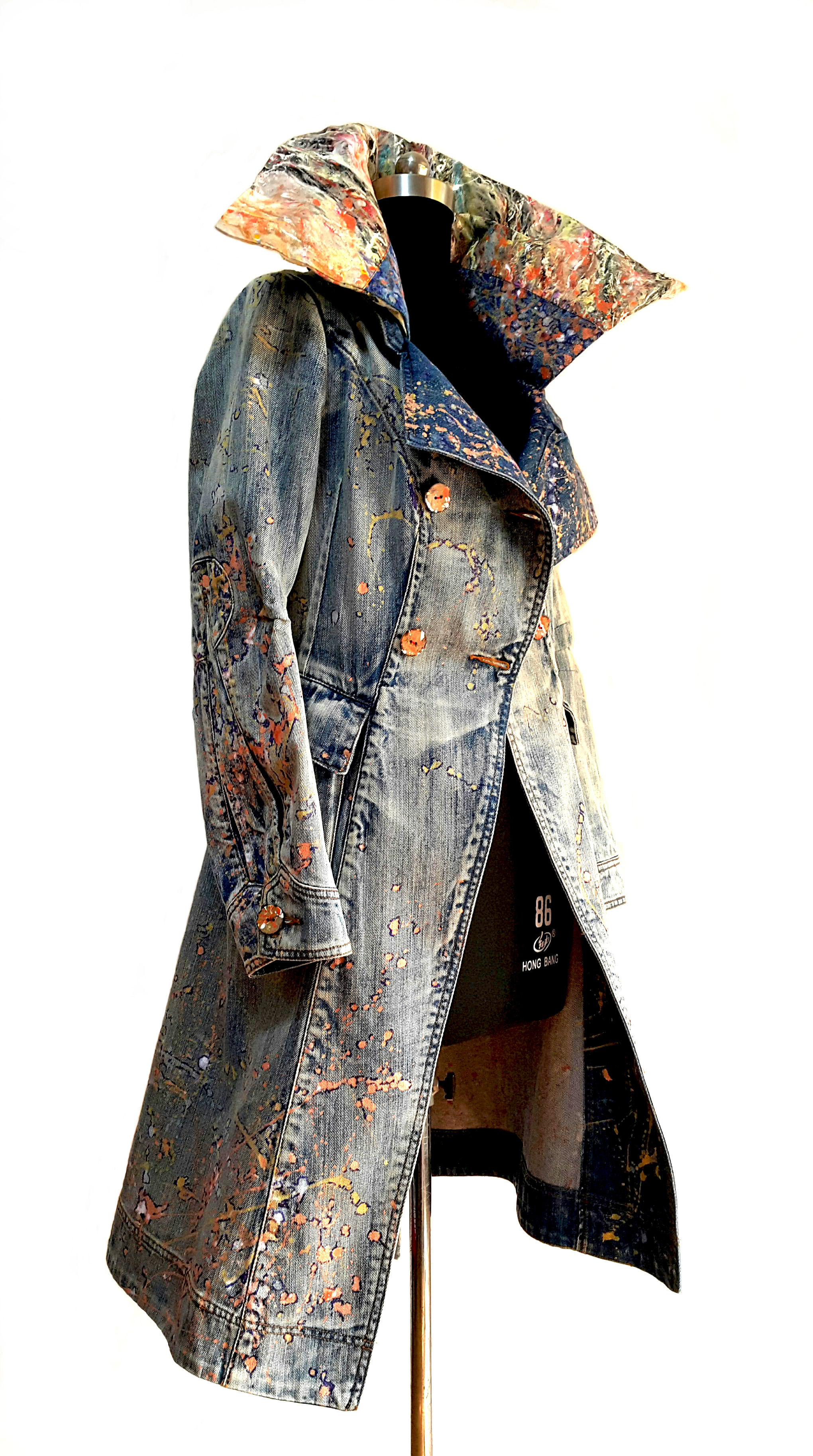 Art-a-porter: Denim coat transformed