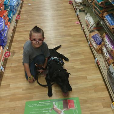 Jr. Trainer Zackery & Demo dog Shadow