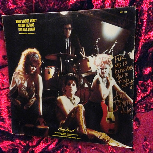 "The Cramps ""What's Inside a Girl"" 12"" single signed by Fur on Halloween 2014"